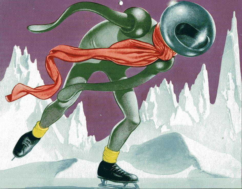 1952 Gnome Press Calendar Winter