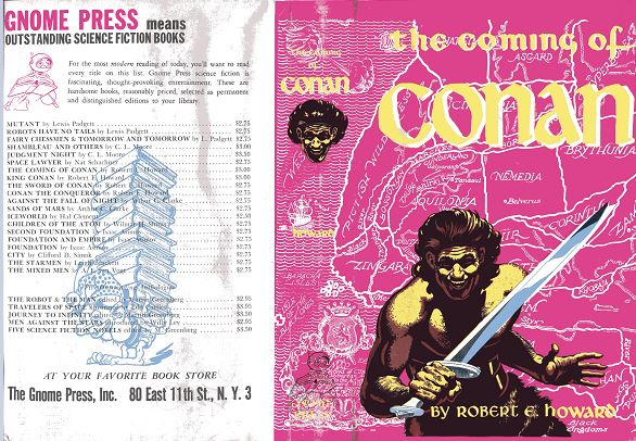 The Coming of Conan jacket front