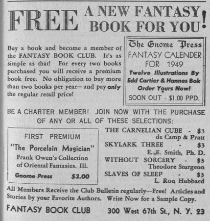 Fantasy Book Club as Fantasy Book, v1#4, Nov. 1948, p24