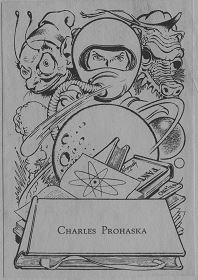 Five Science Fiction Novels ex libris paste-in