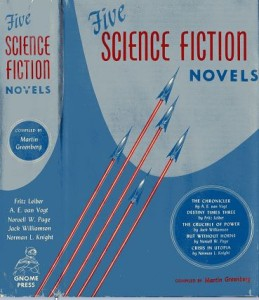 Five Science Fiction Novels front cover