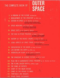 The Complete Book of Outer Space jacket back cover